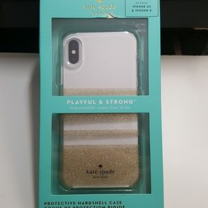 """Case kate spade for iphone x/xs 5.8"""" clear-gold"""